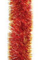 Новогодняя мишура, цвет красный с золотом, 200 см