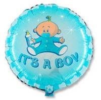 """Фольгированный шар """"Малыш мальчик"""" Круг 18"""""""