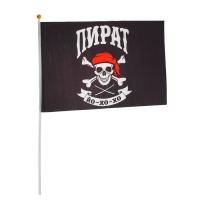 "Флаг пирата ""Йо-хо-хо"", 30 х 45см + флагшток"