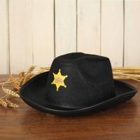 """Ковбойская детская шляпа """"Главный шериф"""", р-р 52-54, цвет чёрный"""