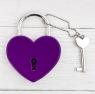 """Замок с ключом """"Любящие сердца"""""""