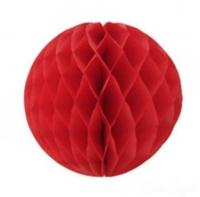 Бумажные шары соты красный цвет 15 см
