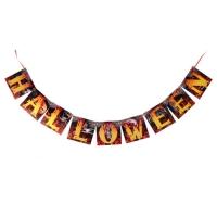 """Гирлянда на ленте """"Halloween"""", огненная, длина 150 см"""