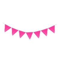 "Гирлянда тассел ""Флажок"" 3 метра, цвет розовый"