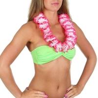 """Гавайское ожерелье """"Цветочки """", цвет розовый"""