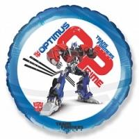 Шар фольгированный Трансформеры: Оптимус Прайм, Синий