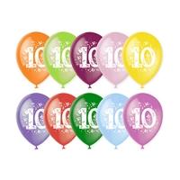 Воздушный шар цифра 10 (Десять)