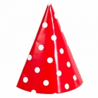 Колпаки «Красные точки», 6шт
