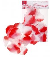 Лепестки роз красно-белые, набор 150 шт