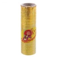 Серпантин блестящий, цвет золотой (в наборе 18 катушек)