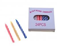 Свечи восковые для торта, в коробке, витые