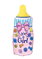 """Фольгированный шар """"Бутылочка  Girl"""" 88 см"""