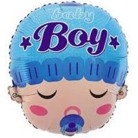 Фольгированный шар Baby, цвет голубой