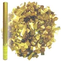 Пневмохлопушка в пластиковой тубе Золотое конфетти 60 см