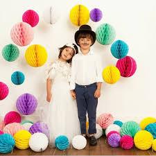 Бумажные шары соты желтый цвет 15 см