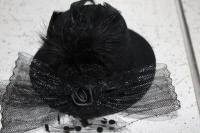 Карнавальная шляпка черная на прищепках