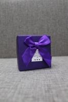 Коробка фиолетовая с бантом