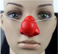 Нос клоуна красный латексный (на резинке)