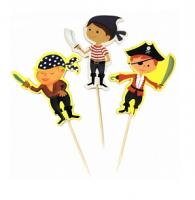Пики для канапе Пираты, 12шт