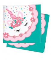 Салфетки Единорог Pink&Tiffany, 12 шт