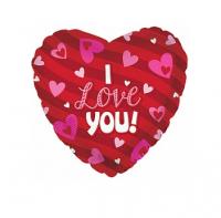 "Фольгированный шар Сердце, Я люблю тебя (сердечки) (18""/46 см)"