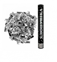 Пневмохлопушка Металлизированное конфетти, Серебро 40 см