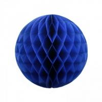 Бумажные шары соты синий цвет 15 см