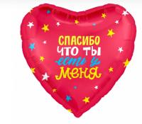 """Фольгированный шар """"Любовь моя, спасибо за дочь!"""" Круг 18"""""""