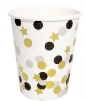 """Бумажные стаканчики """"Стаканы белые, Конфетти"""", 180 мл, 6 шт"""