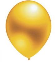 "Воздушный шар золотистый 12"" Металлик"