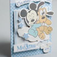 Открытка «Самый любимый малыш», набор для создания, Микки Маус, 11х15 см