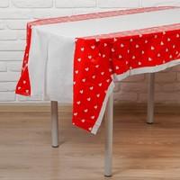 Скатерть «Сердечки», красный цвет, 105х180 см