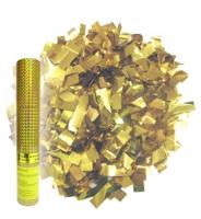 Пневмохлопушка в пластиковой тубе Золотое конфетти