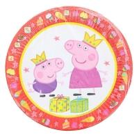 """Набор бумажных тарелок """"Пеппа-принцесса"""" 23 см, 6 шт."""