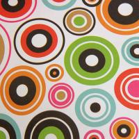 """Бумага упаковочная крафт """"Цветные круги"""" 50 х 70 см"""