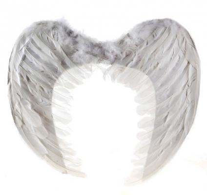 Крылья ангела, черные, 100 см х 80 см