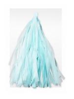Гирлянда Тассел, Светло-голубая, 2 м, 10 листов