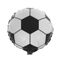"""Шар фольгированный 18"""" """"Футбольный мяч"""" Черное, белое"""