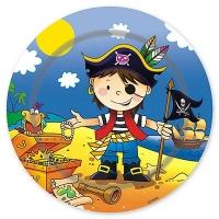 Тарелки большие Маленький пират, 23 см, 6 шт