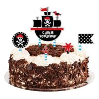 """Набор для украшения торта """"Пиратская вечеринка"""""""