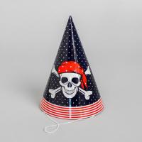 """Колпак бумажный """"Настоящий пират!"""", набор 6 шт."""