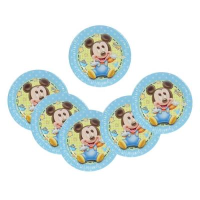 "Тарелки бумажные ""Малыш Микки"" 20 см (набор 8 шт) / Baby Mickey"