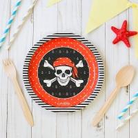 """Тарелка бумажная """"Пиратская"""", 18 см"""