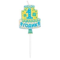 """Свеча в торт мини """"1 годик"""""""