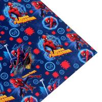 """Бумага упаковочная глянцевая """"С Днем Рождения! Человек-паук"""", 70х100 см, Человек-паук"""