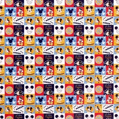 """Бумага упаковочная глянцевая """"С Днем Рождения"""", 50х70 см, Микки Маус"""