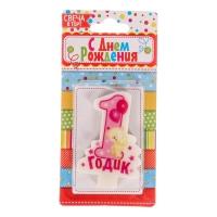"""Свеча в торт """"Мне 1 годик"""""""