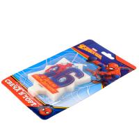 """Свеча в торт 6 """"С Днем Рождения"""", Человек-паук, 5 х 8 см"""