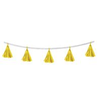 Гирлянда-тассел «Кисточки», в наборе 5 кисточек, цвет жёлтый