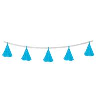 Гирлянда-тассел «Кисточки», в наборе 5 кисточек, цвет голубой
